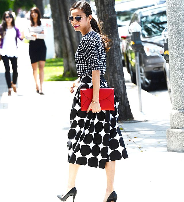 What are some fresh ways to style a midi skirt for summer?