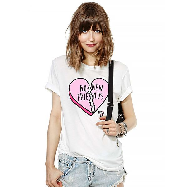 Nasty Gal No New Friends Tee