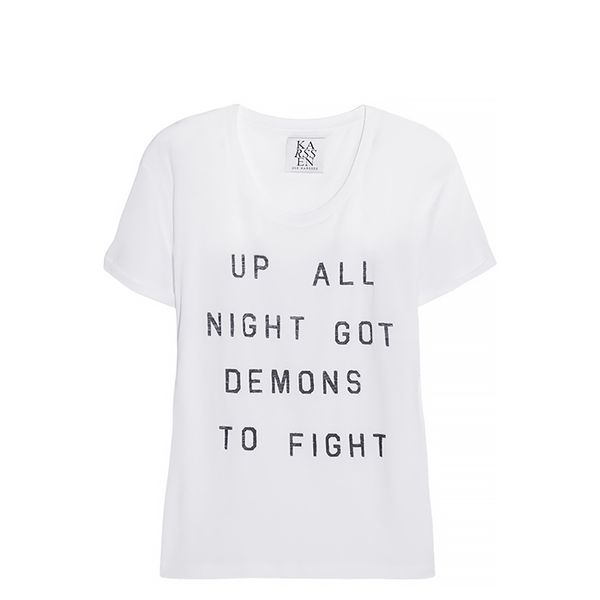 Zoe Karssen Up All Night Cotton and Modal-Blend T-Shirt