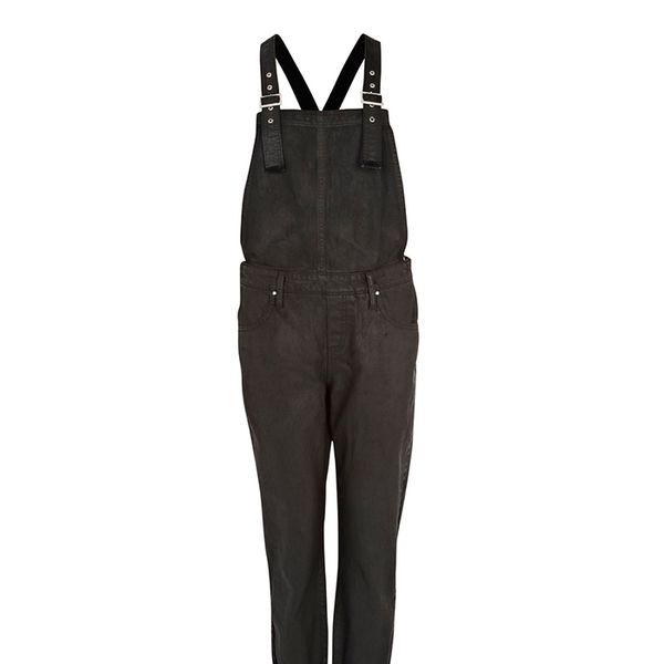 River Island Black Coated Overalls