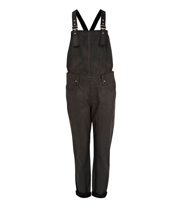 River Island Black Coated Overalls ($30)  ?Recreate Olivia Palermo's look for less!