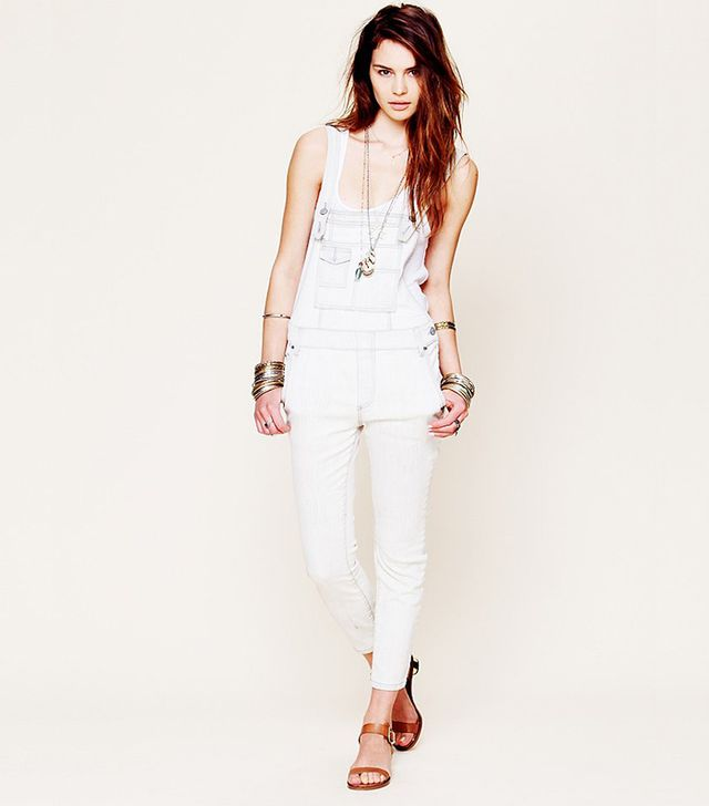 Free People Washed Denim Overalls ($98)  ?We love how these are slightly cropped. Perfect for spring!