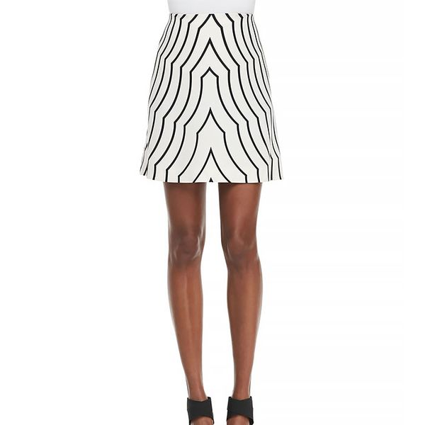 Marc by Marc Jacobs Radio Waves Printed A-Line Skirt