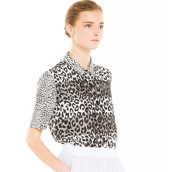 Sandro Leopard Silk Top