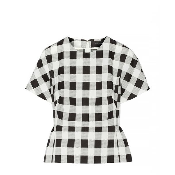 Derek Lam Gingham Faille Top