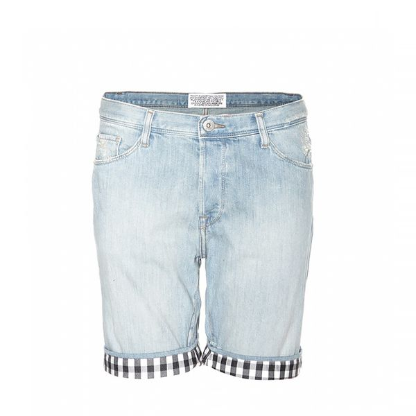 Each x Other Gingham-Trimmed Denim Shorts