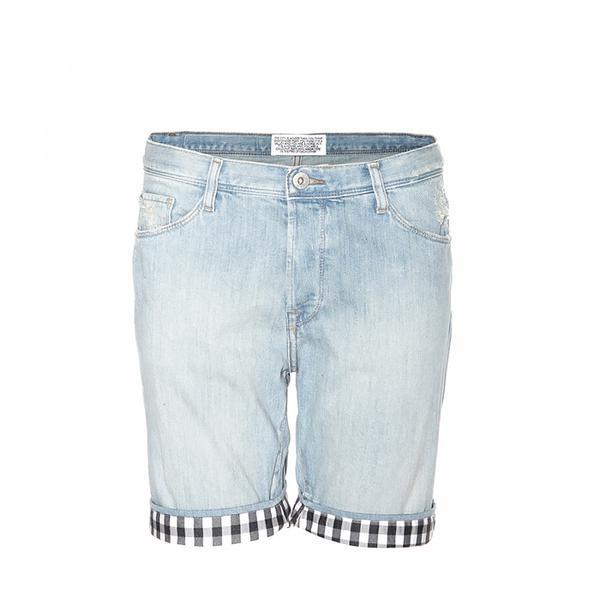 Each x Other Gingham-Trimmed Denim Shorts