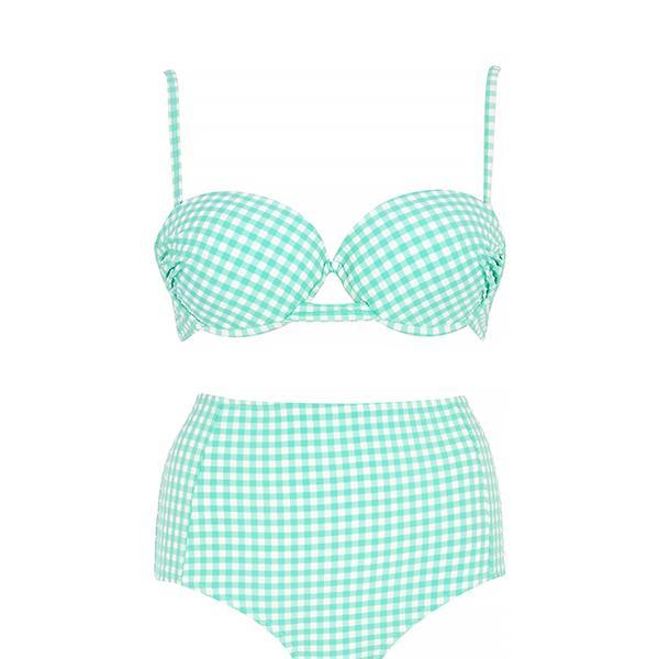 River Island Gingham Bikini