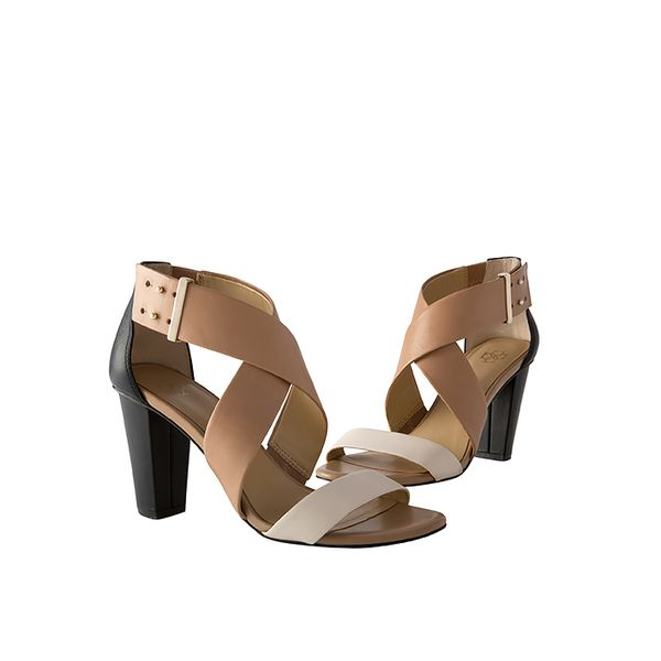 Ann Taylor Jaynie Leather High Heel Sandals