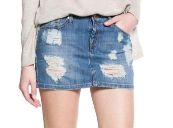 Mango Medium Denim Miniskirt