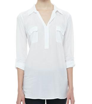 Splendid Tab-Sleeve Tunic Shirt