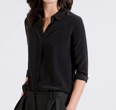 Everlane The Silk Rounded Collar Shirt