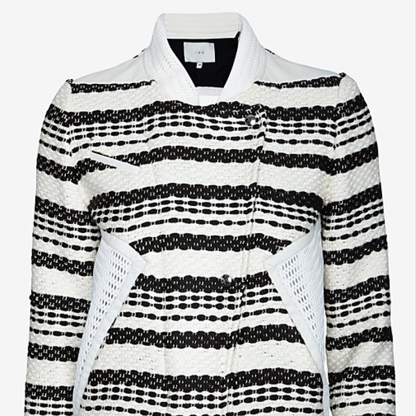 IRO Exclusive Aubrey Mesh Inset Tweed Jacket