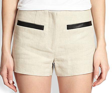 L'Agence Linen Shorts