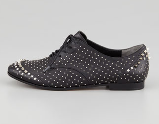 Rachel Roy Greer Studded Leather Oxford Shoes