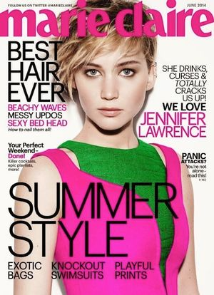 Jennifer Lawrence For Marie Claire June 2014
