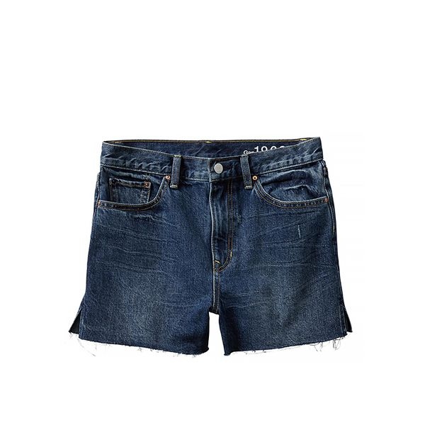Gap 1969 Raw-Edge High-Rise Denim Shorts