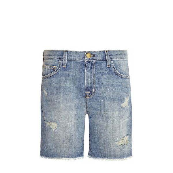 Current/Elliott The Slouchy Mid-Rise Cut-Off Stretch Denim Shorts