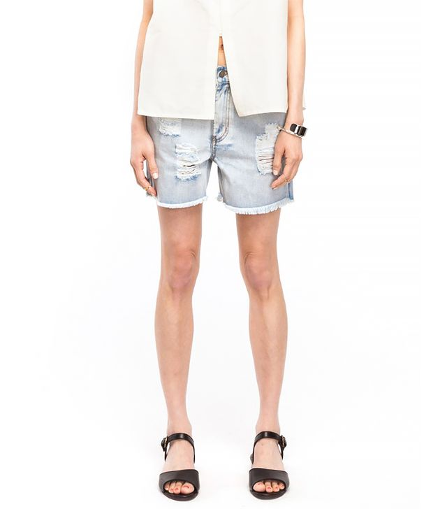 Long Denim Shorts 