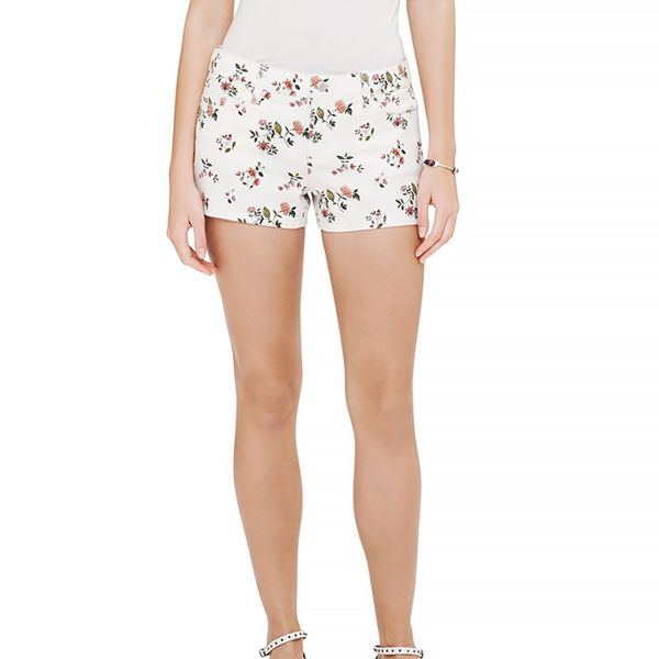Club Monaco Julia Floral Denim Shorts