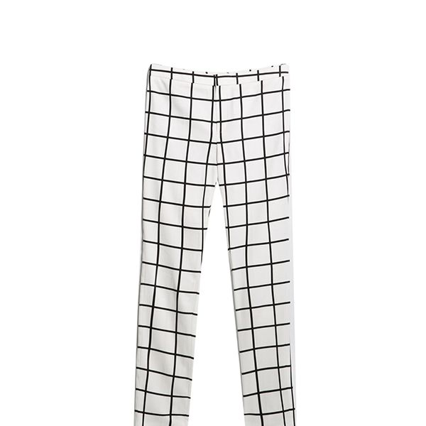 Mango Monochrome Check Trousers