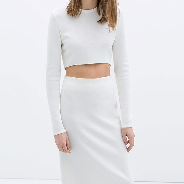 Zara Asymmetric Crop Top