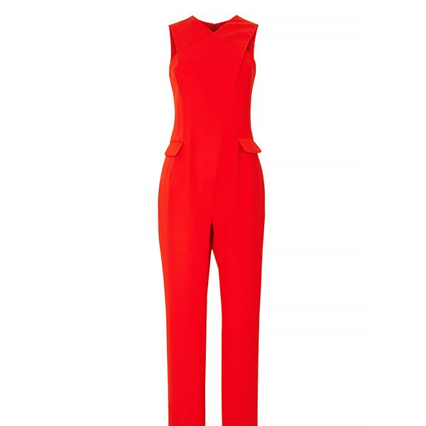Opening Ceremony Celia Crepe Cross-Front Jumpsuit