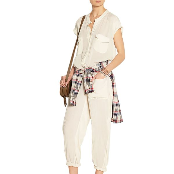 Raquel Allegra Cotton-Gauze Jumpsuit