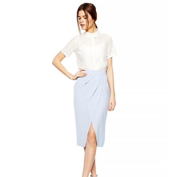 ASOS Drape Tulip Skirt In Crepe