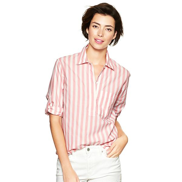 Gap Stripe Roll-Sleeve Shirt
