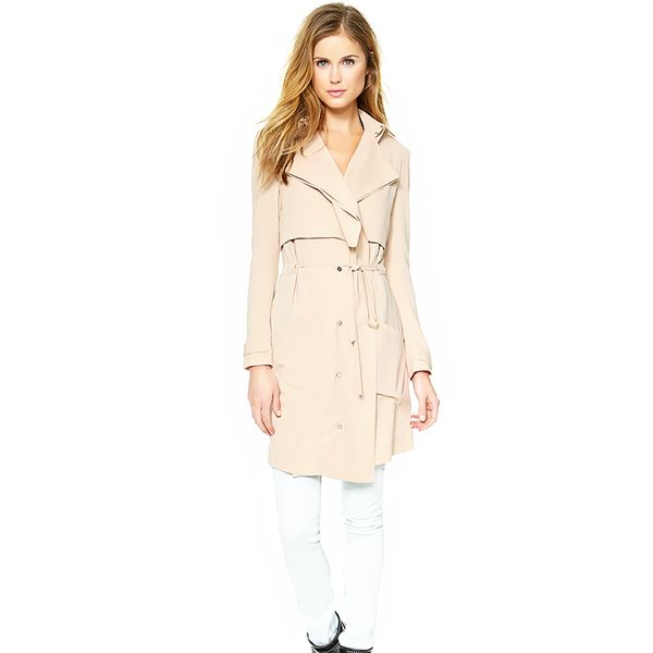 Haute Hippie Drapey Trench Coat