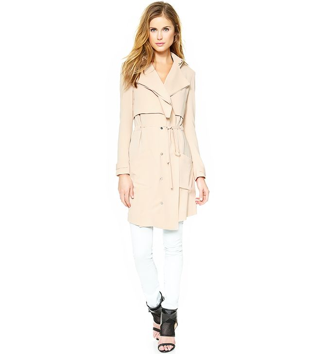 Haute Hippie Drapey Trench Coat ($695) in Buff
