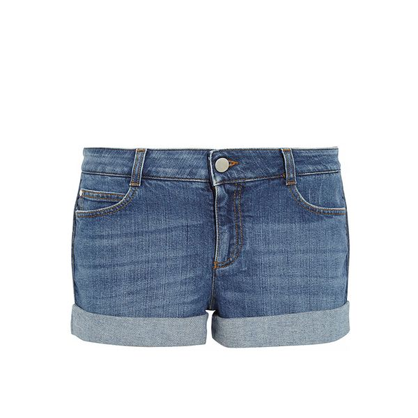 Stella McCartney Cara Mid-Rise Stretch-Denim Shorts
