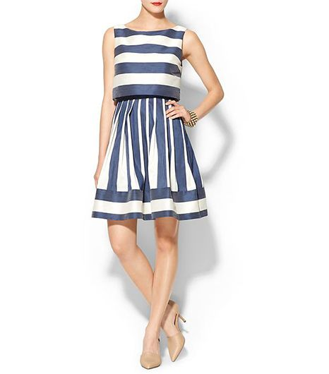 Pim + Larkin Striped Double Layer Mini Dress