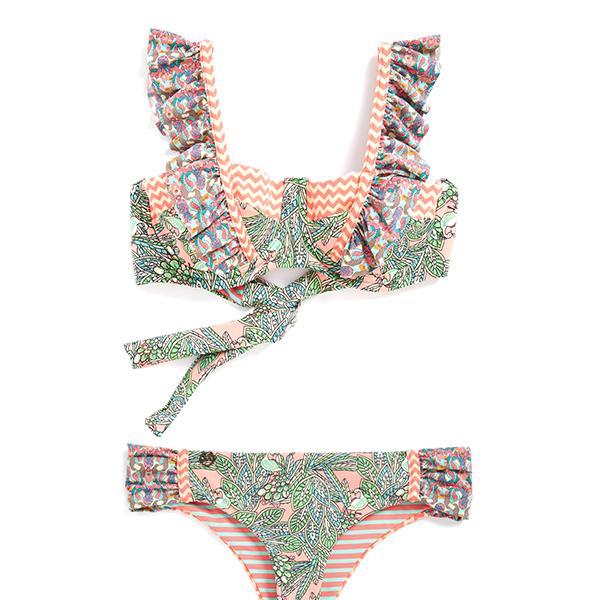 Maaji Coral Waves Ruffle Bikini Top
