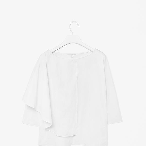 COS Asymmetric Cotton Top