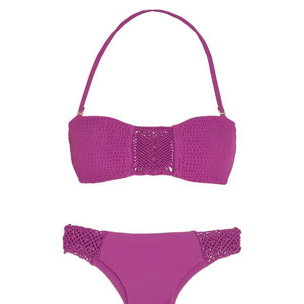 Tori Praver Chelsea Macramé-Detailed Bandeau Bikini Top