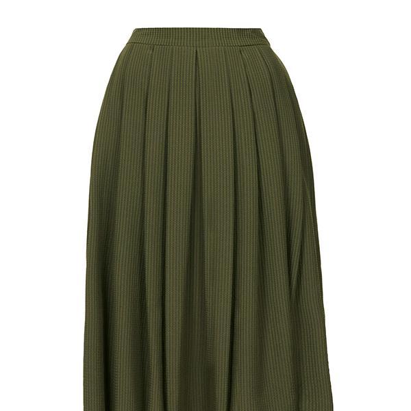 Topshop Khaki Full Midi Skirt