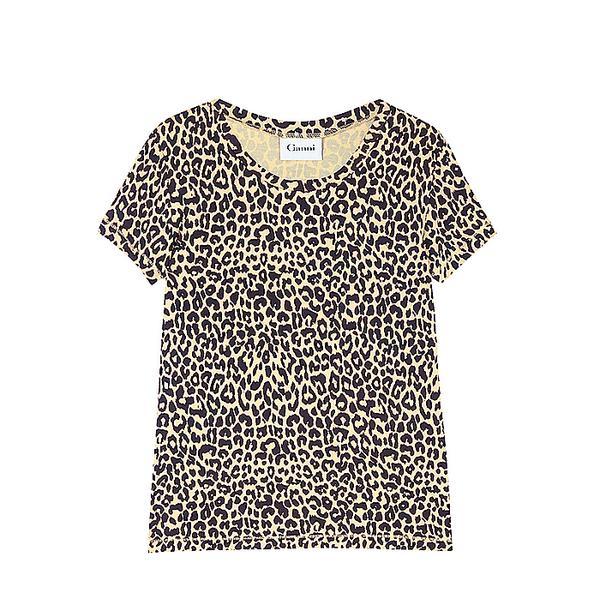 Ganni Leopard Print T-Shirt