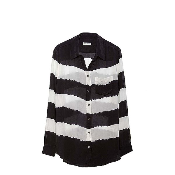 Equipment Reese Engineered Tie Dye Stripe Blouse