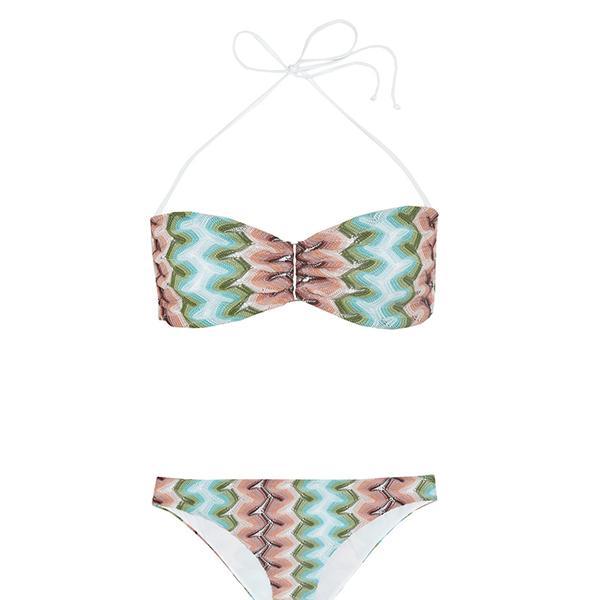 Missoni Mare Sfumato Crochet-Knit Bandeau Bikini