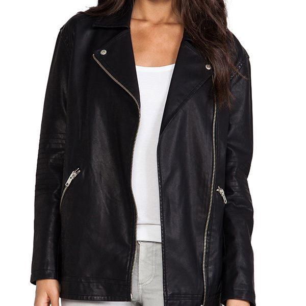 BB Dakota Atleg Vegan Leather Moto Jacket