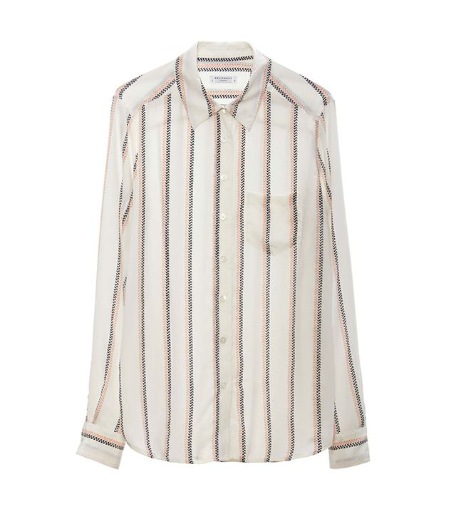 Equipment Brett Striped Shirt ($258)