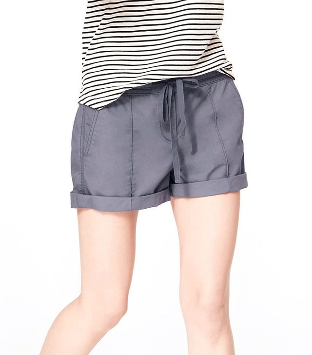 Lou & Grey Washed Poplin Shorts ($40)