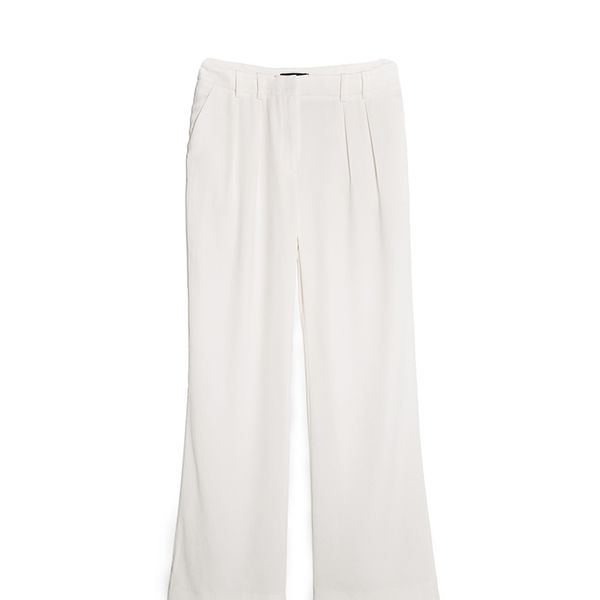 Mango Pleated Crepe Trousers
