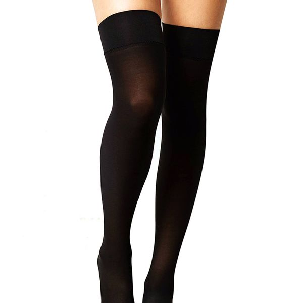 Anthropologie Opaque Thigh Highs