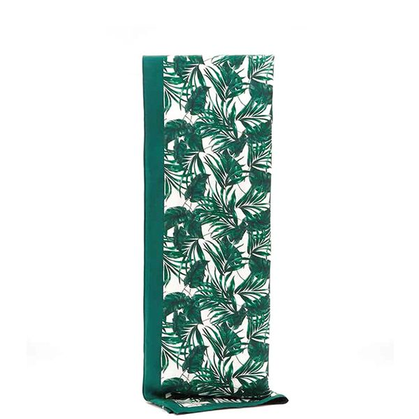 Reiss Miami Palm Print Silk Scarf