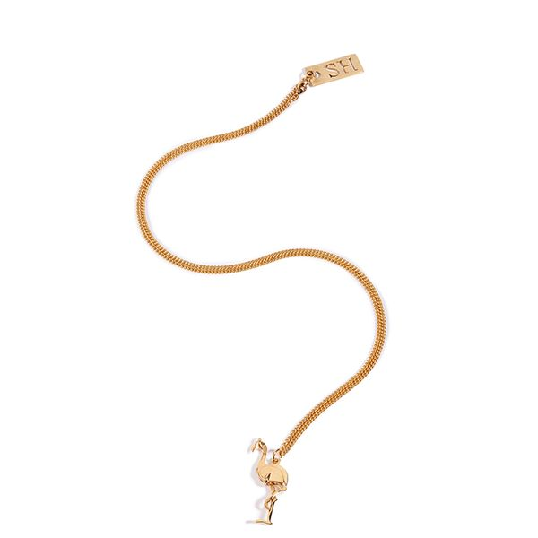 Sophie Hulme Flamingo Necklace