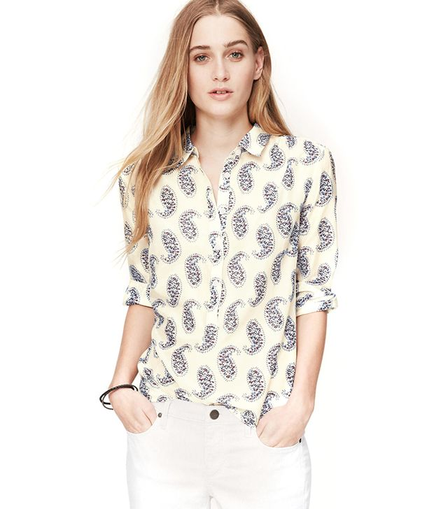 LOFT Petite Paisley Softened Shirt ($60)