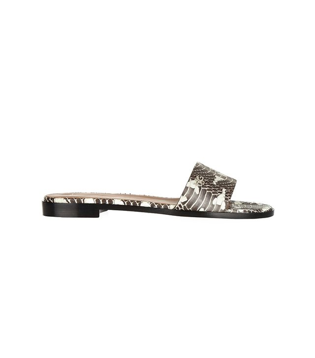 Givenchy Snake Slip-On Sandals ($595)